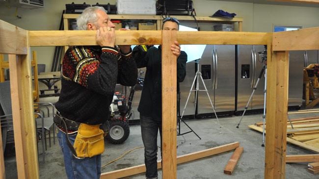 Making a log rack