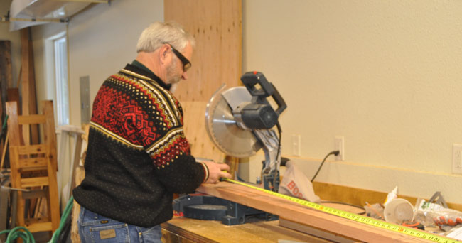 How to make a log rack