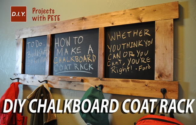 How To Make A Chalkboard Coat Rack Inspiration Chalkboard Coat Rack