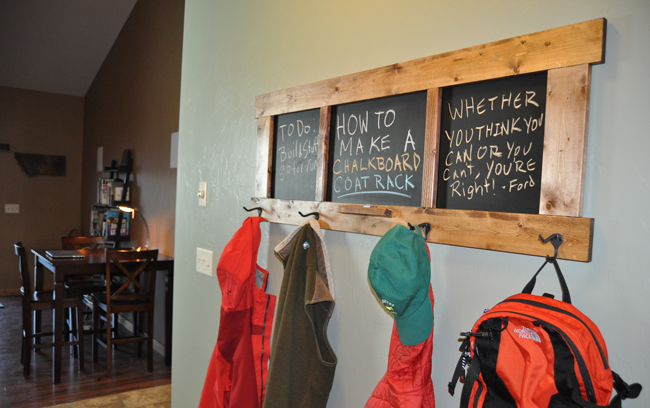 Chalkboard coat rack plans