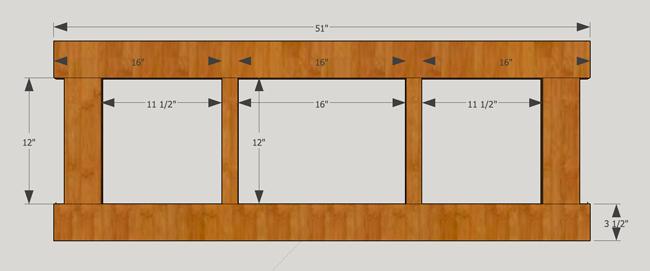 Measurements for coat rack