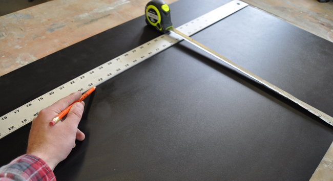 Measuring to make a chalkboard