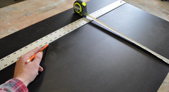Measuring to make a chalkboard