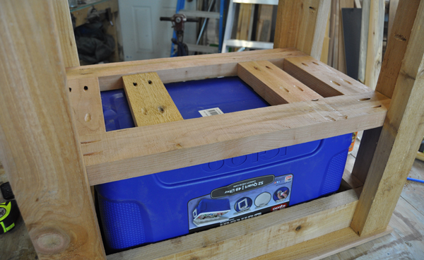 How to build a patio cooler for Wooden beer cooler plans