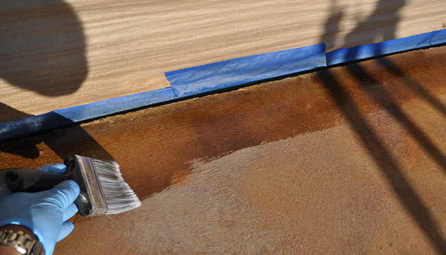 Sealing Acid Stained Concrete Patio
