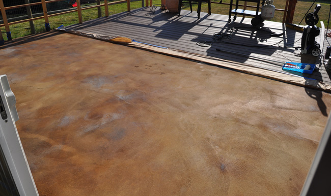 Concrete Stain And Sealer : How to acid stain concrete