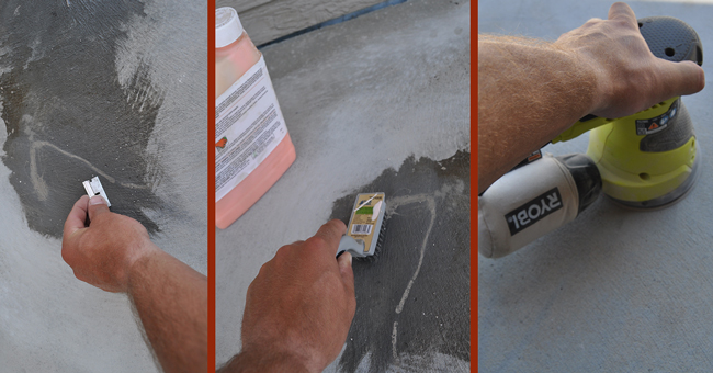 How to Clean concrete before acid staining