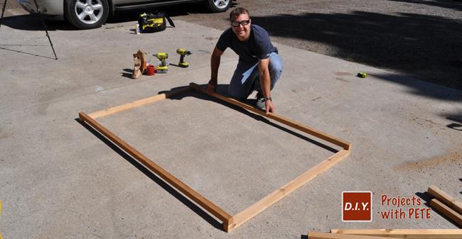 Building a wooden trellis