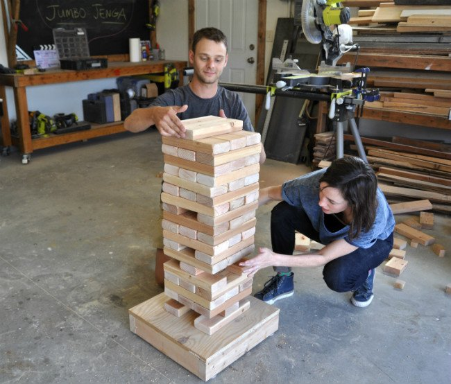 Giant Jenga Game Stacking