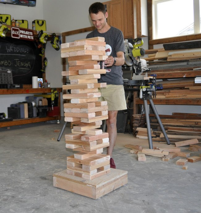 Giant Jenga Game Playing