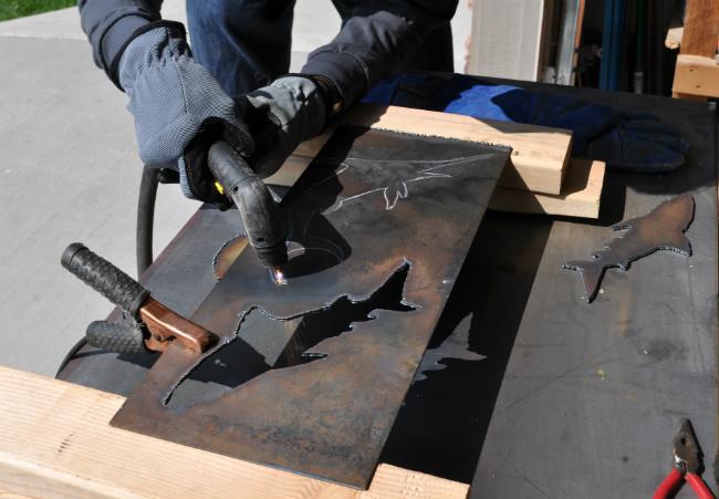 metal coat rack, coat rack, plasma cut
