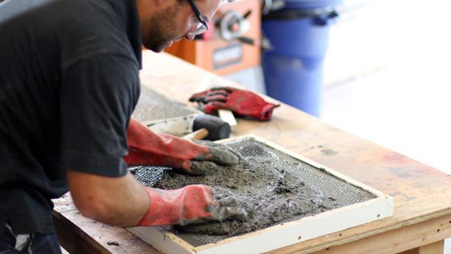 1 inch concrete counter