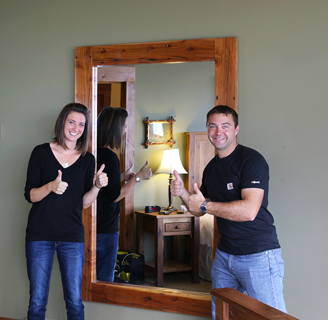 Full Length Mirror Wood Frame