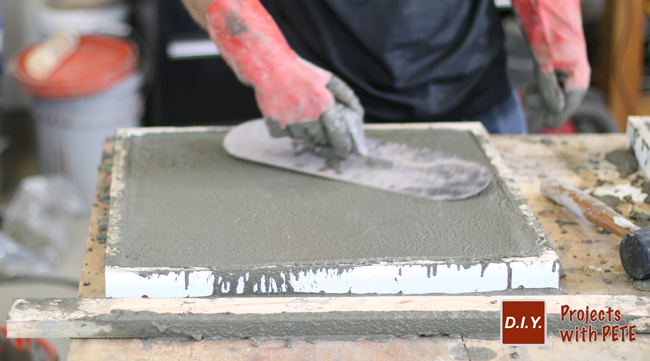 Removing concrete from mold