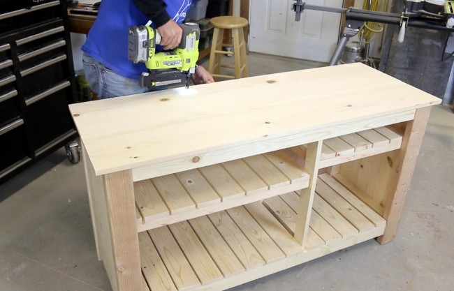 Make a Wood TV Console - DIY Pete