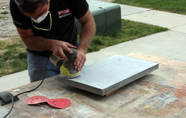 woodworking, kreg jig, sanding, concrete