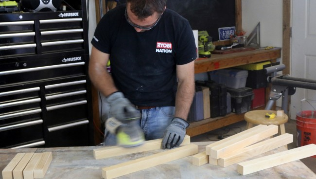 woodworking, sanding, concrete