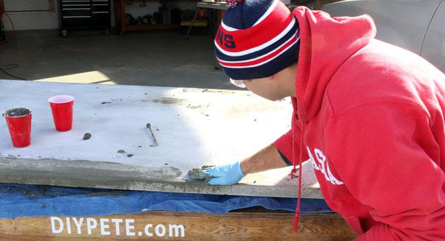concrete, concrete dining table, dining table, table, concrete table, concrete project, DIY concrete, DIY concrete table, DIY