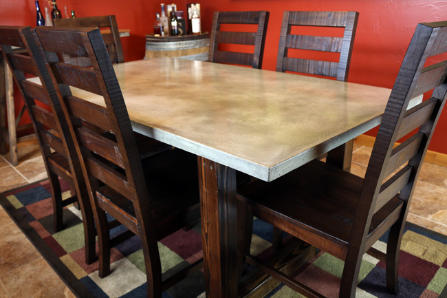 DIY Concrete Dining Table DIY Pete - Concrete dining room table