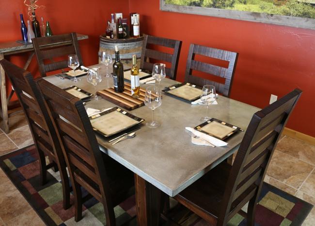 diy concrete dining table - diy pete Concrete Kitchen Table