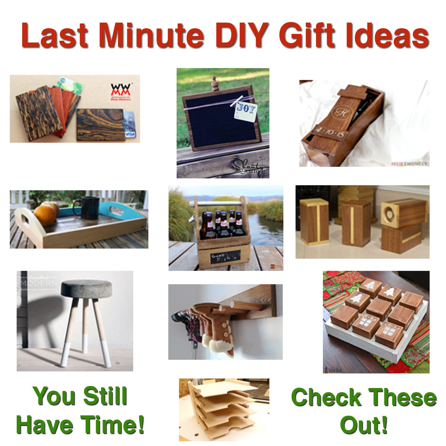Last Minute DIY Gift Ideas - Top DIY Bloggers
