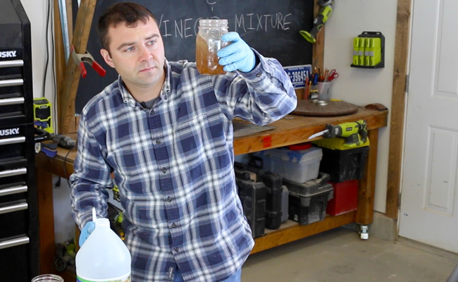 steel wool and vinegar stain, steel wool, vinegar, steel wool and vinegar, wood stain, diy wood stain, diy