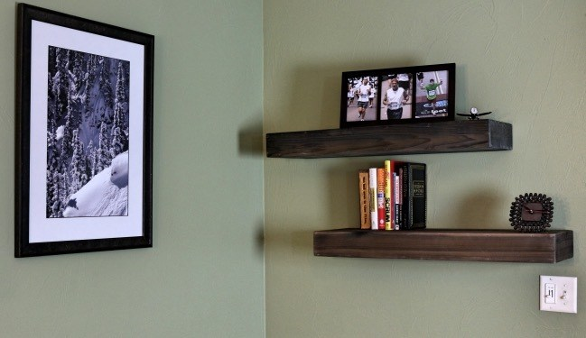 Do It Yourself Home Design: DIY Wood Floating Shelf