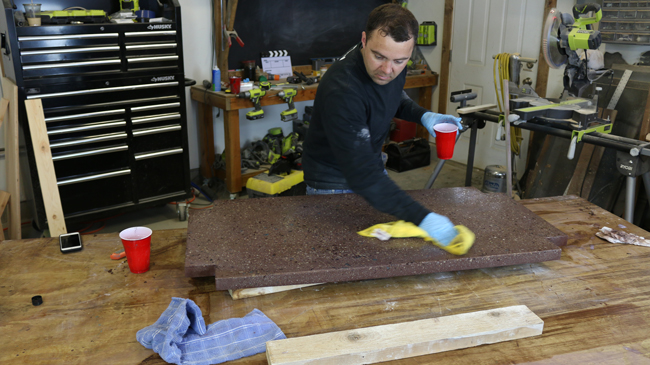 How to seal concrete counters