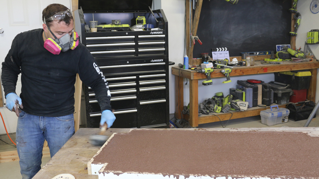 Vibrating Concrete Counter