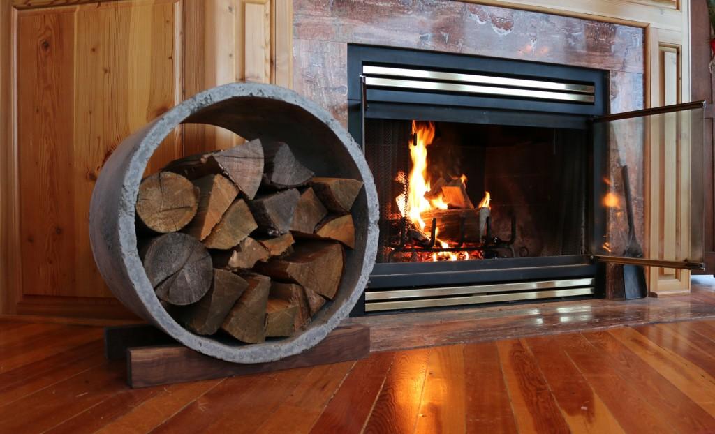 concrete log holder, modern concrete, modern concrete log holder, log holder, concrete log holder, DIY log holder, DIY concrete