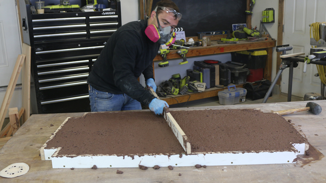 How to screed concrete for concrete counter