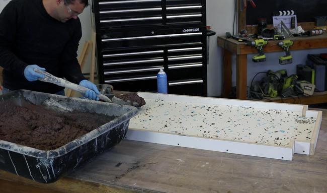 making a concrete table