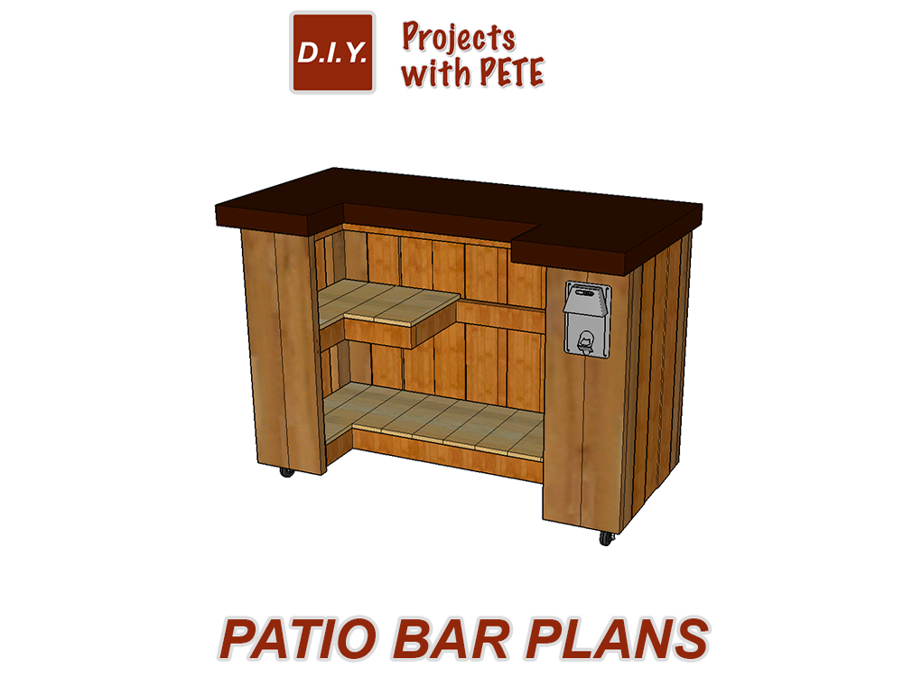 Beer Caddy Plans · Cornhole Game Plans · Patio Bar Plans - DIY Project Plans - Downloadable Detailed Plans And Cut List
