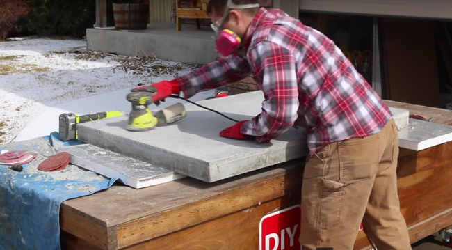 Sanding concrete