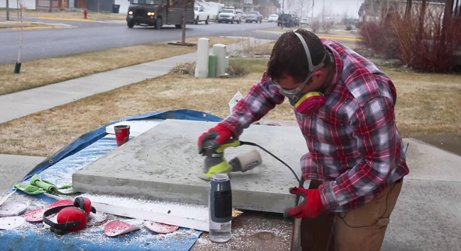 How to finish concrete counters
