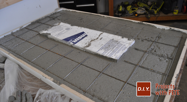 Reenforce concrete counter