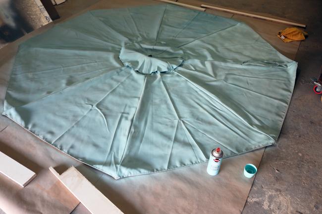 Painting an umbrella