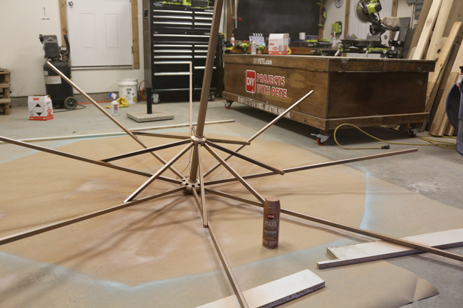 Painting Umbrella base