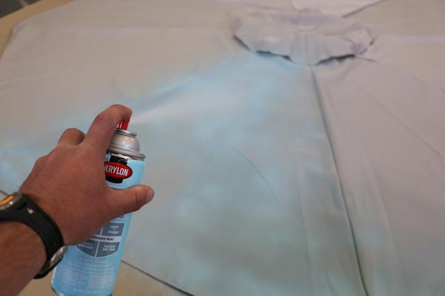 How to spray paint umbrella