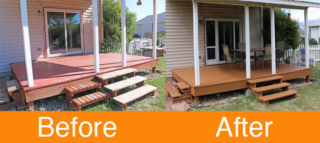 How to Restore a Deck Before and After