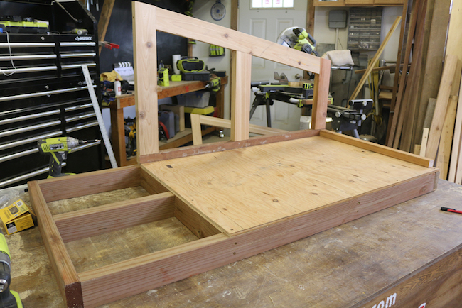 making the doghouse frame