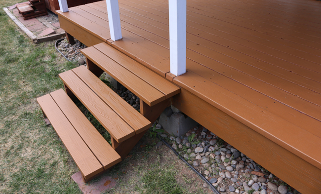 example of solid color stain