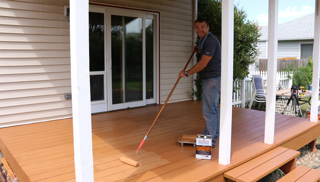 Staining a Deck Solid