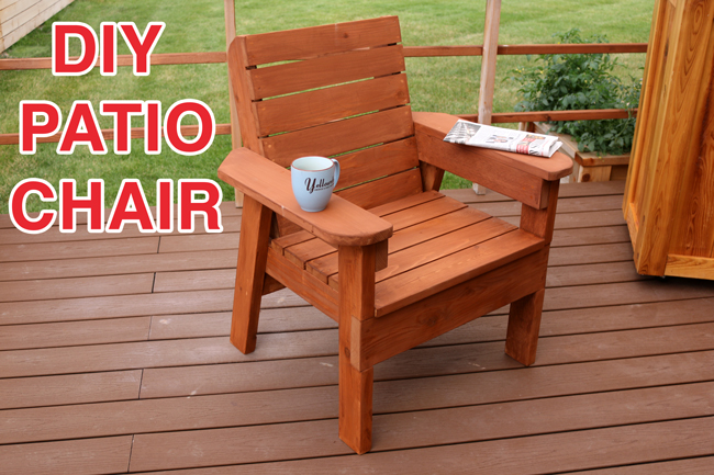 DIY Patio Chair Plans and Tutorial - Step by Step Videos and Photos