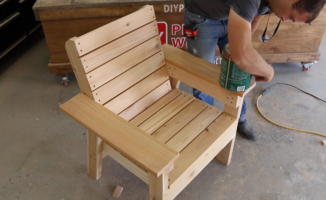 Marvelous Diy Patio Chair Plans And Tutorial Step By Step Videos And Beutiful Home Inspiration Xortanetmahrainfo