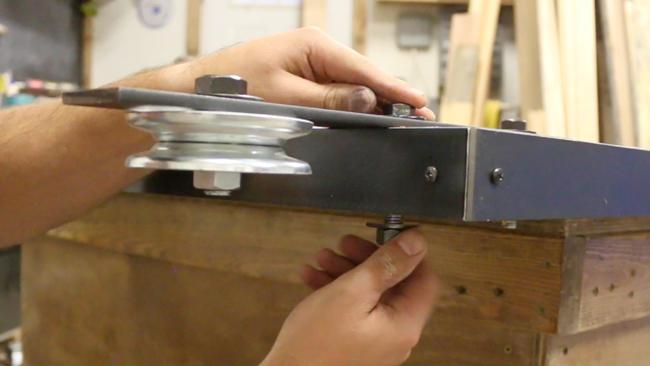 how to attach barn door hardware