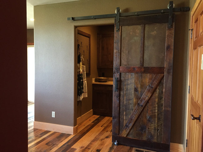 reclaimed sliding barn door & How to Make a Sliding Barn Door - Free Plans | DIY Projects With Pete