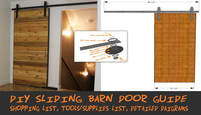Building Sliding Barn Doors how to make a sliding barn door - free plans - diy projects with pete