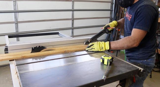 Cut a cedar picket