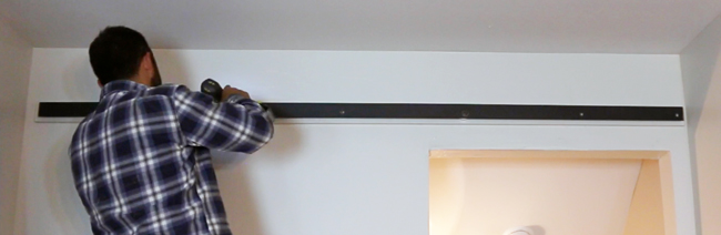 How to install a barn door rail